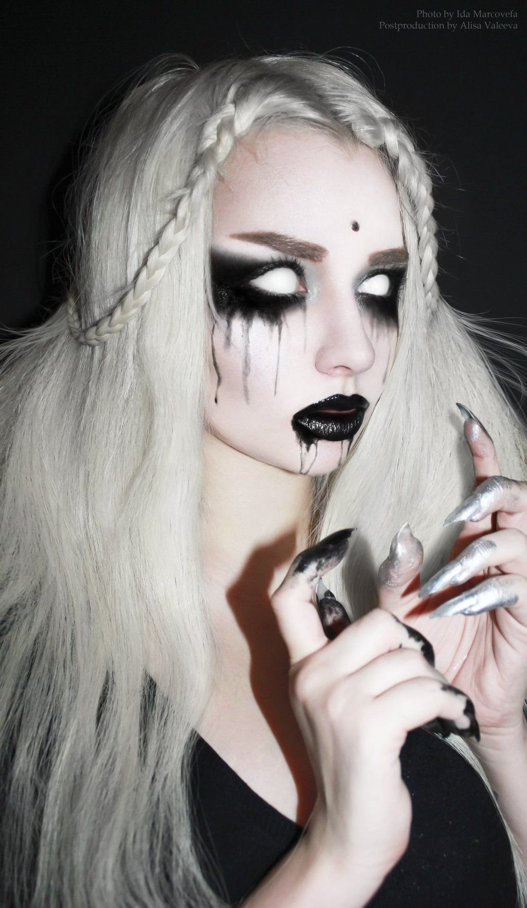 perfect ghost makeup in black and white. - 17 black & white makeup
