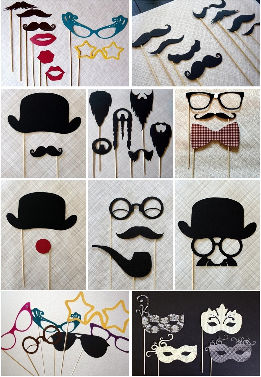 perfect props for a photo wall | photo ideas for parties | pinterest