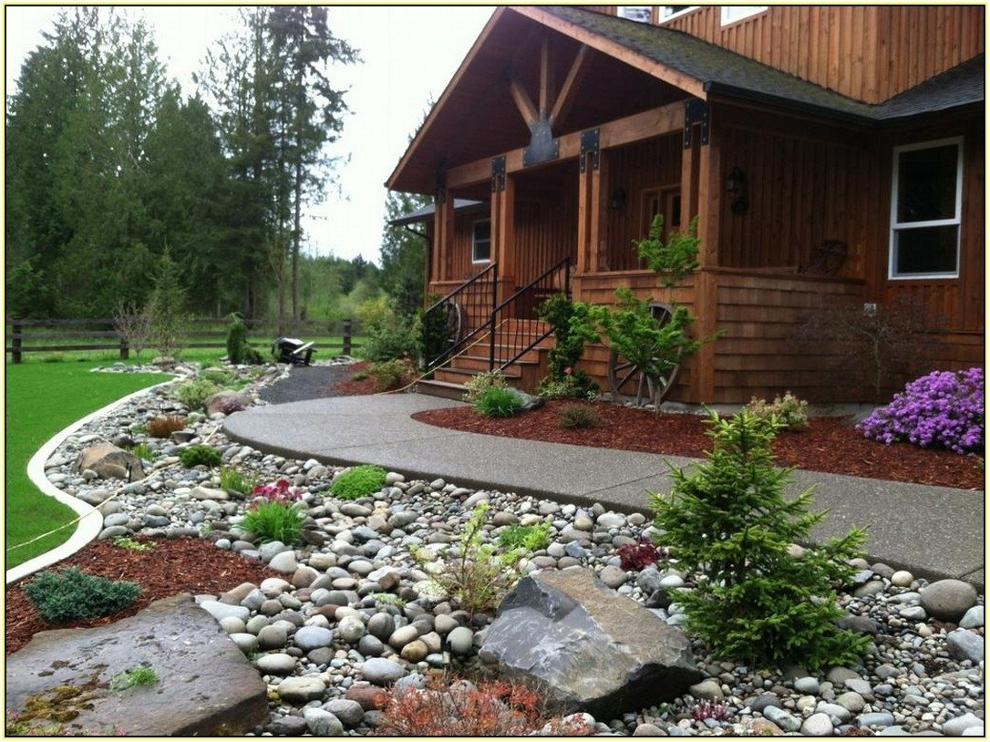 10 Perfect Rock Landscaping Ideas For Front Yard perfect rock landscaping ideas for front yard manitoba design 2020