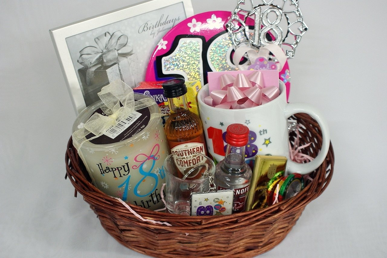 10 Pretty 18Th Birthday Gift Ideas For Girls Personalised 18th Basket Gifts