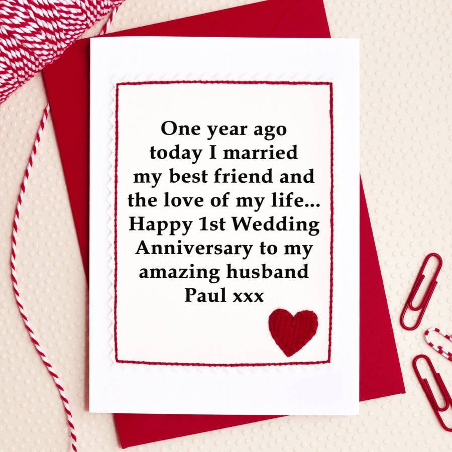 10 Gorgeous 1St Anniversary Gift Ideas For Husband personalised 1st wedding anniversary cardjenny arnott cards 1 2020
