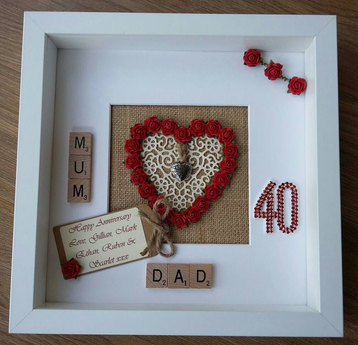 10 Unique Gift Ideas For 40Th Wedding Anniversary personalised 40th ruby wedding anniversary giftengagementmarriage 2020