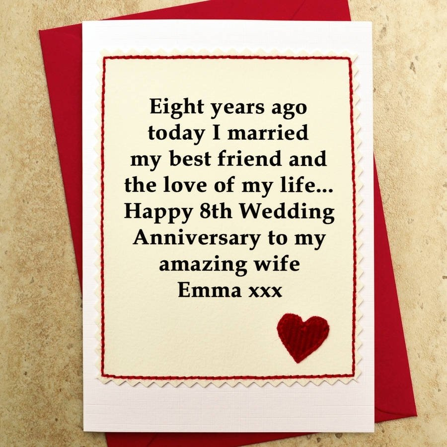 10 Lovable Anniversary Card Ideas For Him personalised 8th wedding anniversary cardjenny arnott cards 1 2020
