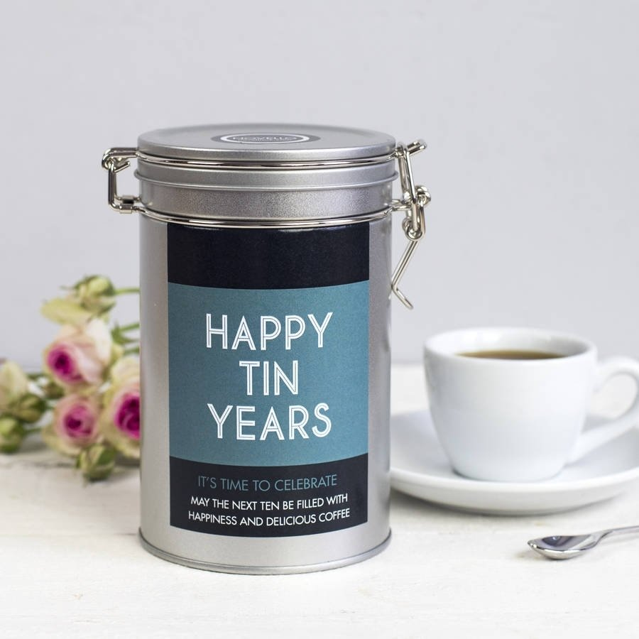 10 Fabulous 10Th Anniversary Gift Ideas For Him personalised anniversary coffee gift tinnovello 2020