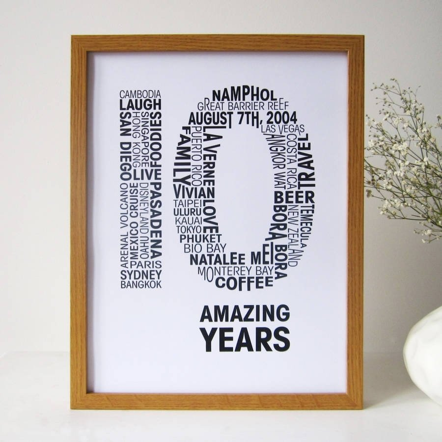 10 Awesome 10Th Anniversary Ideas For Him personalised anniversary printmrs l cards notonthehighstreet 2020