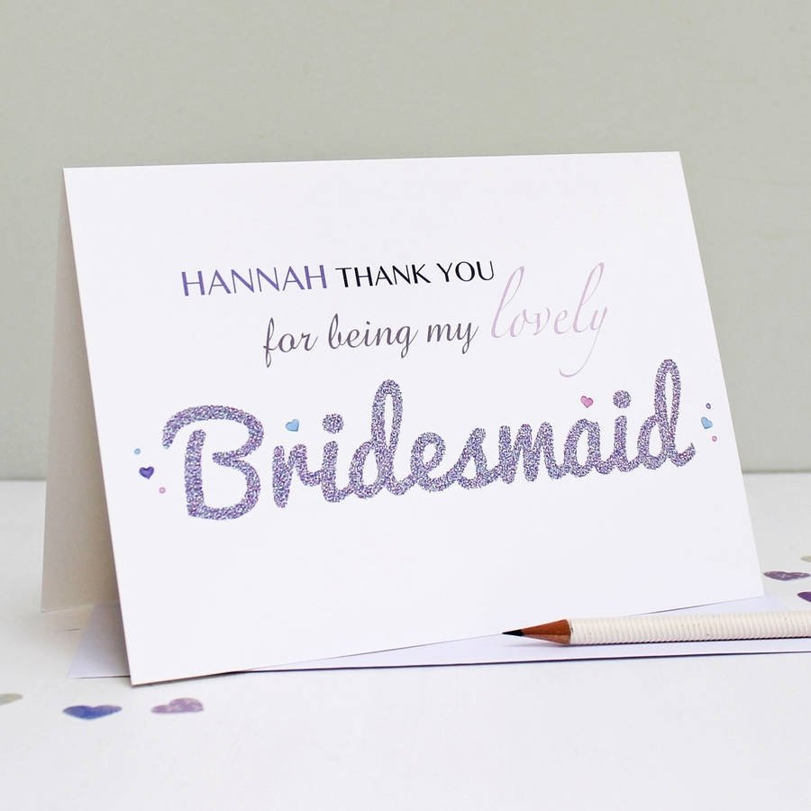 10 Fashionable Thank You Card Message Ideas personalised bridesmaid thank you cardmartha brook 1