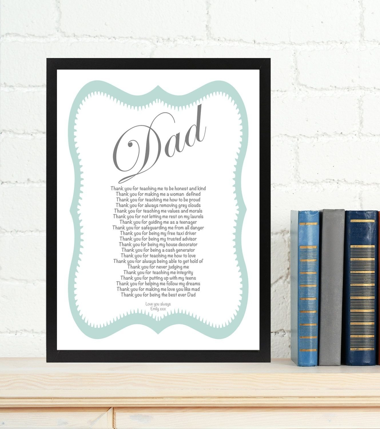 10 Stunning Birthday Gift Ideas For Dad From Daughter Personalised Poem Wedding
