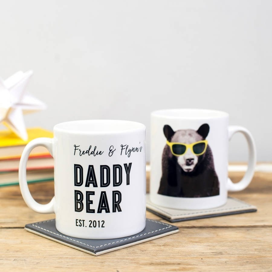 10 Pretty First Father Day Gift Ideas personalised daddy bear mugdelightful living