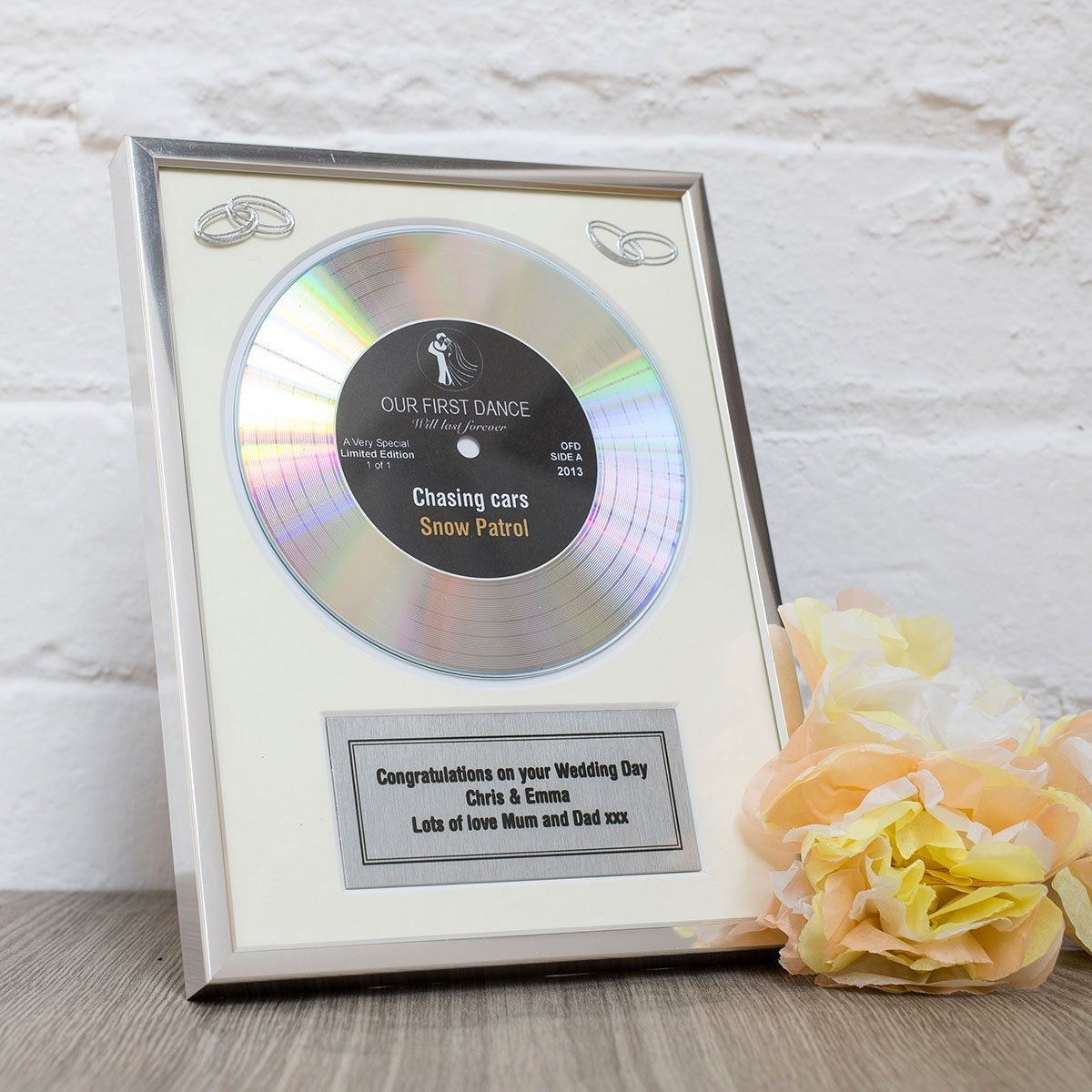 personalised first dance gold didi disc | gettingpersonal.co.uk
