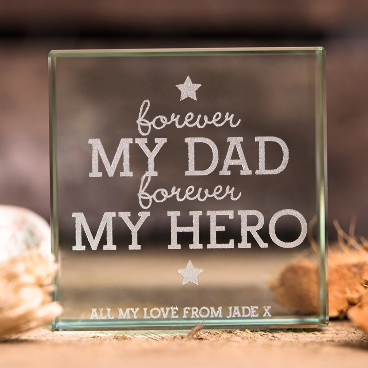 10 Most Popular 70Th Birthday Gift Ideas For Dad Personalised Glass Token Forever My Gettingpersonal