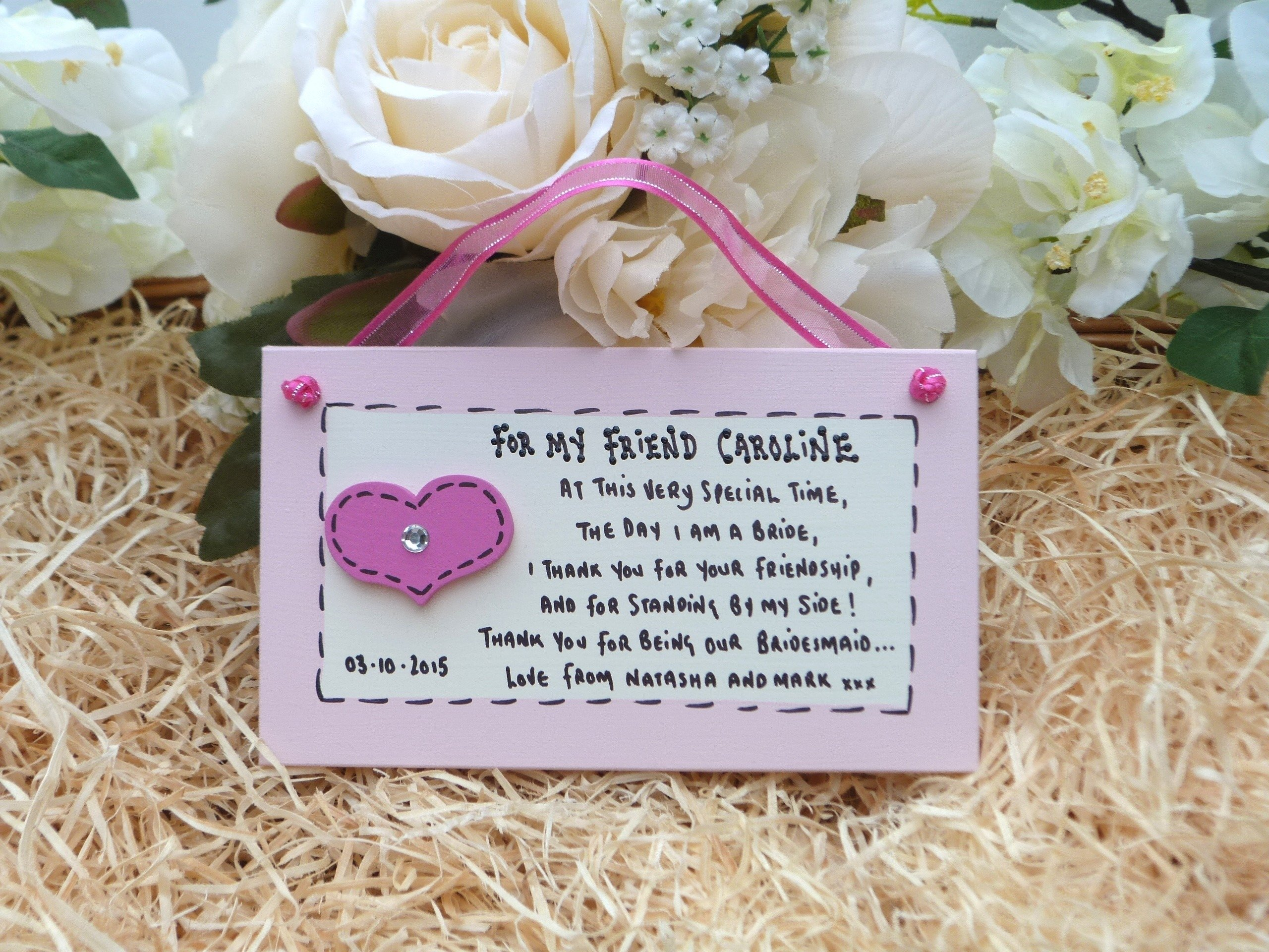10 Beautiful Maid Of Honor Gift To Bride Ideas personalised keepsake gift for friend of bride bridesmaid or maid 2021