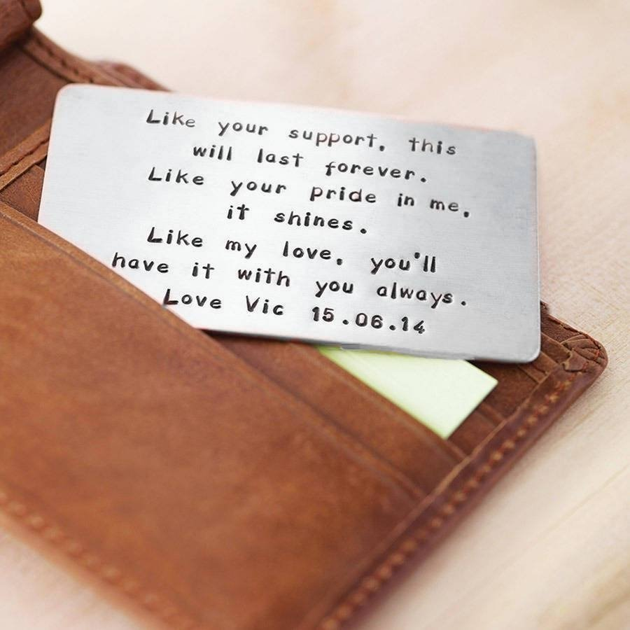 10 Stylish Copper Gift Ideas For Him personalised metal wallet insert card gift copper gifts and etsy