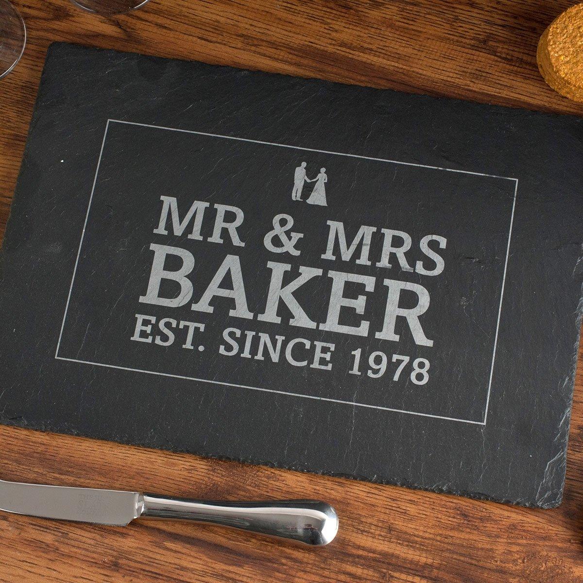 10 Perfect 10 Year Anniversary Gift Ideas For Husband personalised slate cheeseboard anniversary gettingpersonal co uk 3 2020
