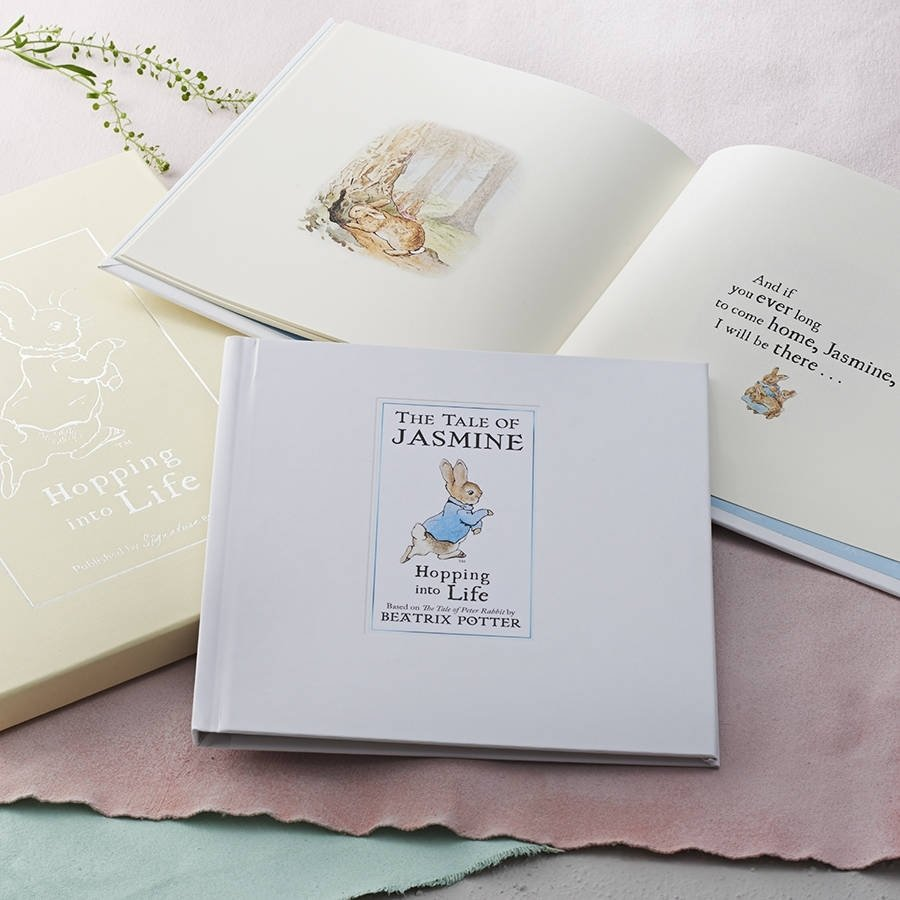 10 Unique Christening Gift Ideas For Boys personalised tale of peter rabbit gift boxed bookletteroom