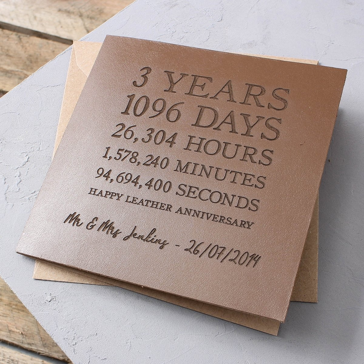 10 Great 3Rd Year Anniversary Gift Ideas personalised time card leather 3rd anniversary gettingpersonal co uk 1 2020