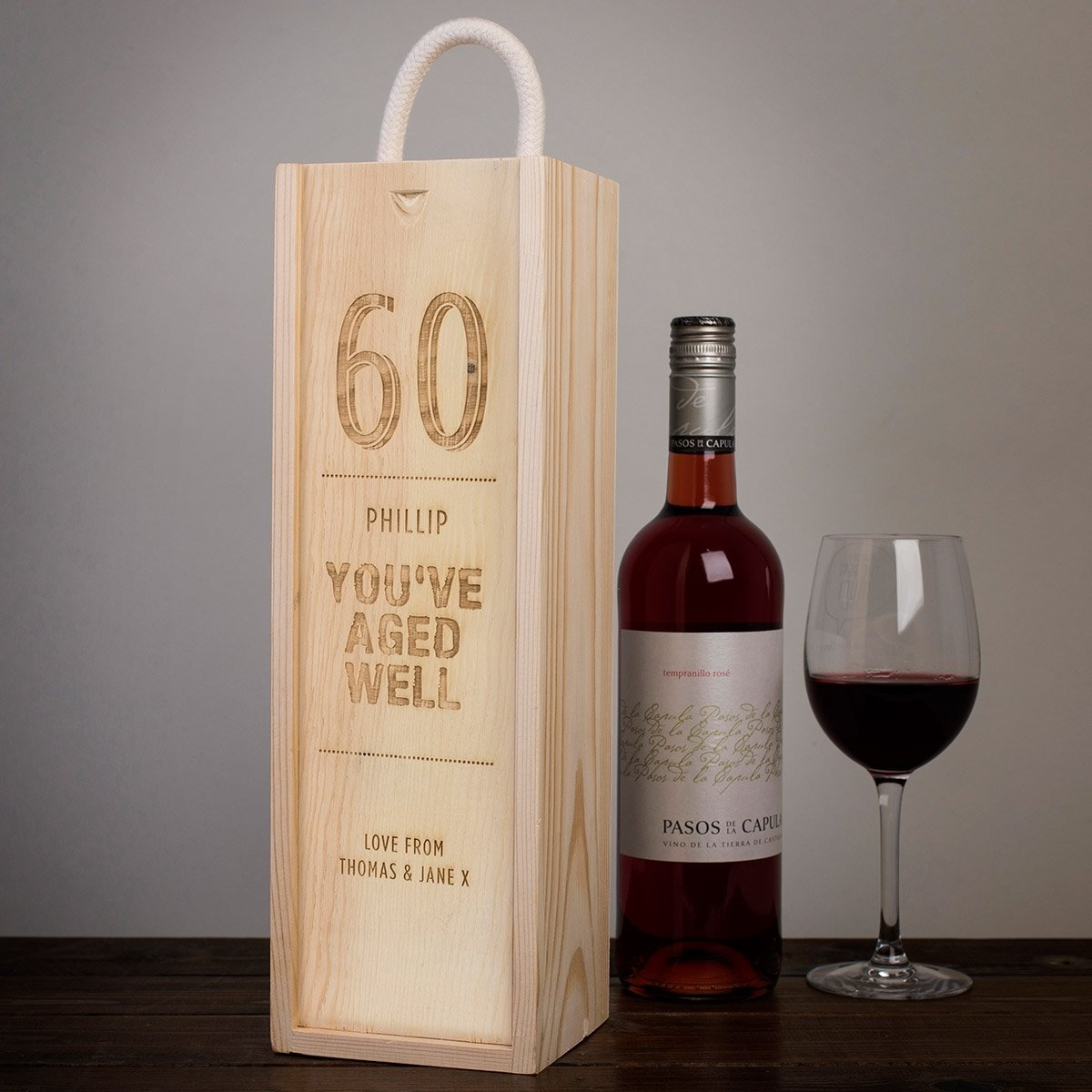 10 Stunning 60Th Birthday Gift Ideas For Men personalised youve aged well wooden wine box card factory 2021