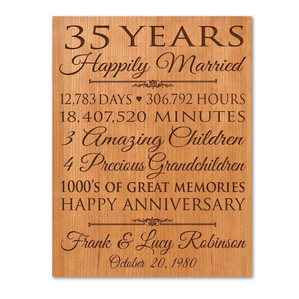 10 Pretty 35Th Wedding Anniversary Gift Ideas personalized 35th anniversary gift for him35 year wedding 2 2020