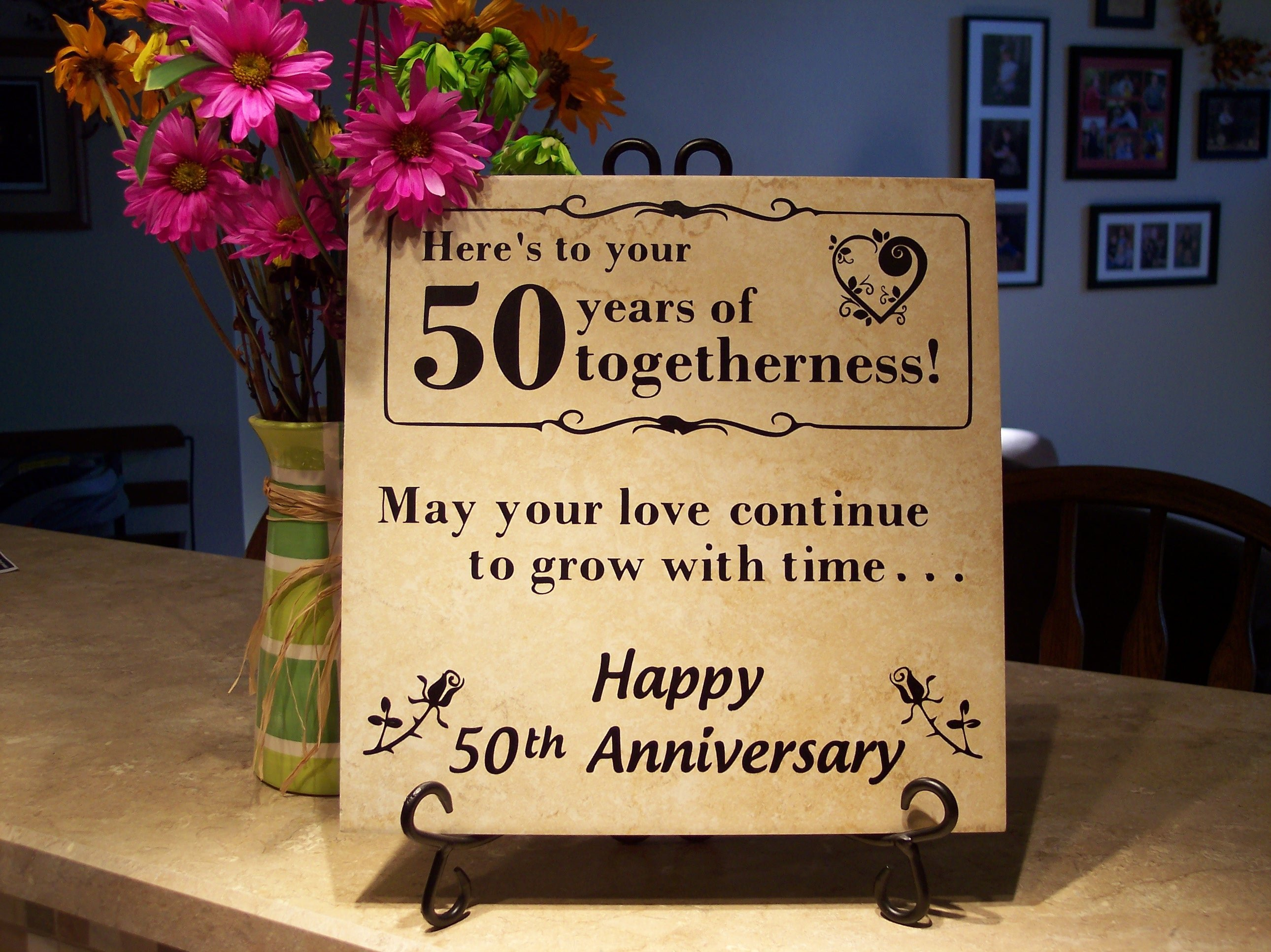10 Great 50Th Wedding Anniversary Gift Ideas For Friends personalized 50th anniversary gift oreilly tiles 2021