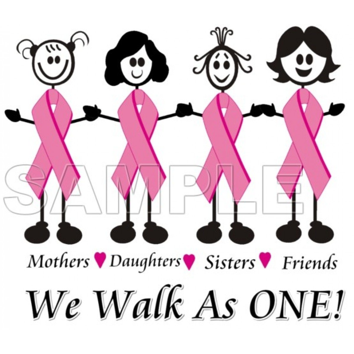 10 Attractive Breast Cancer T Shirt Ideas personalized iron on transfers breast cancer awareness we walk as 2020
