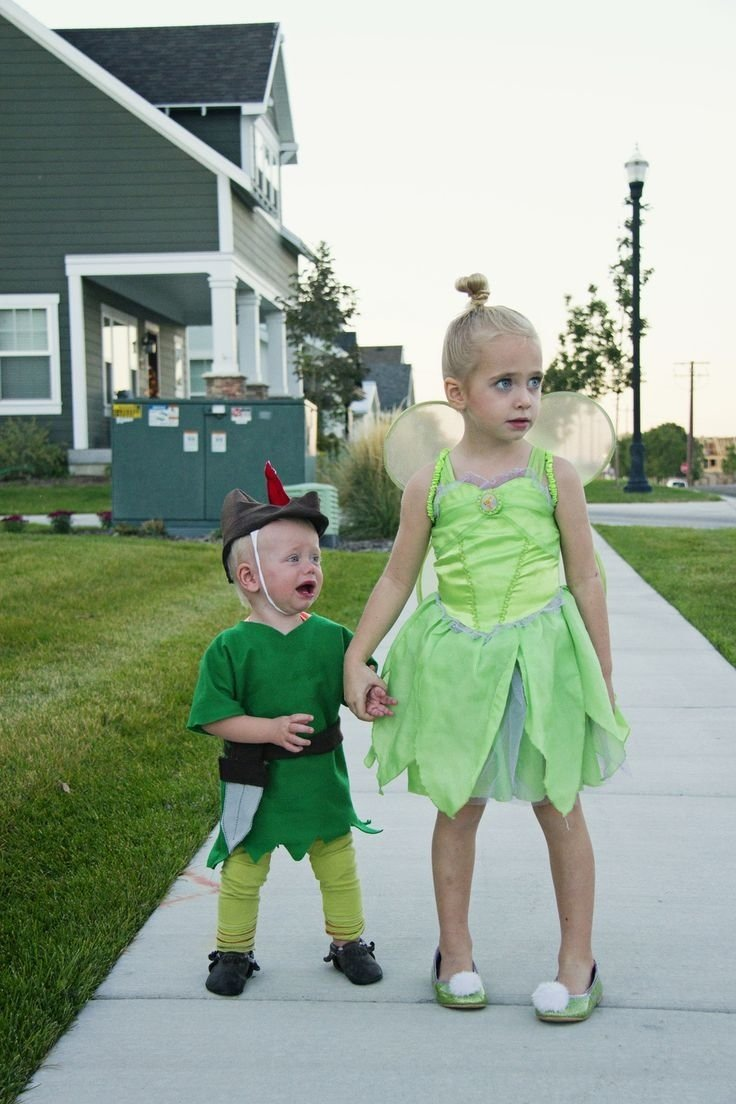 10 Most Popular Halloween Costume Ideas For Sisters peter pan brother sister sibling halloween costume holiday 2020