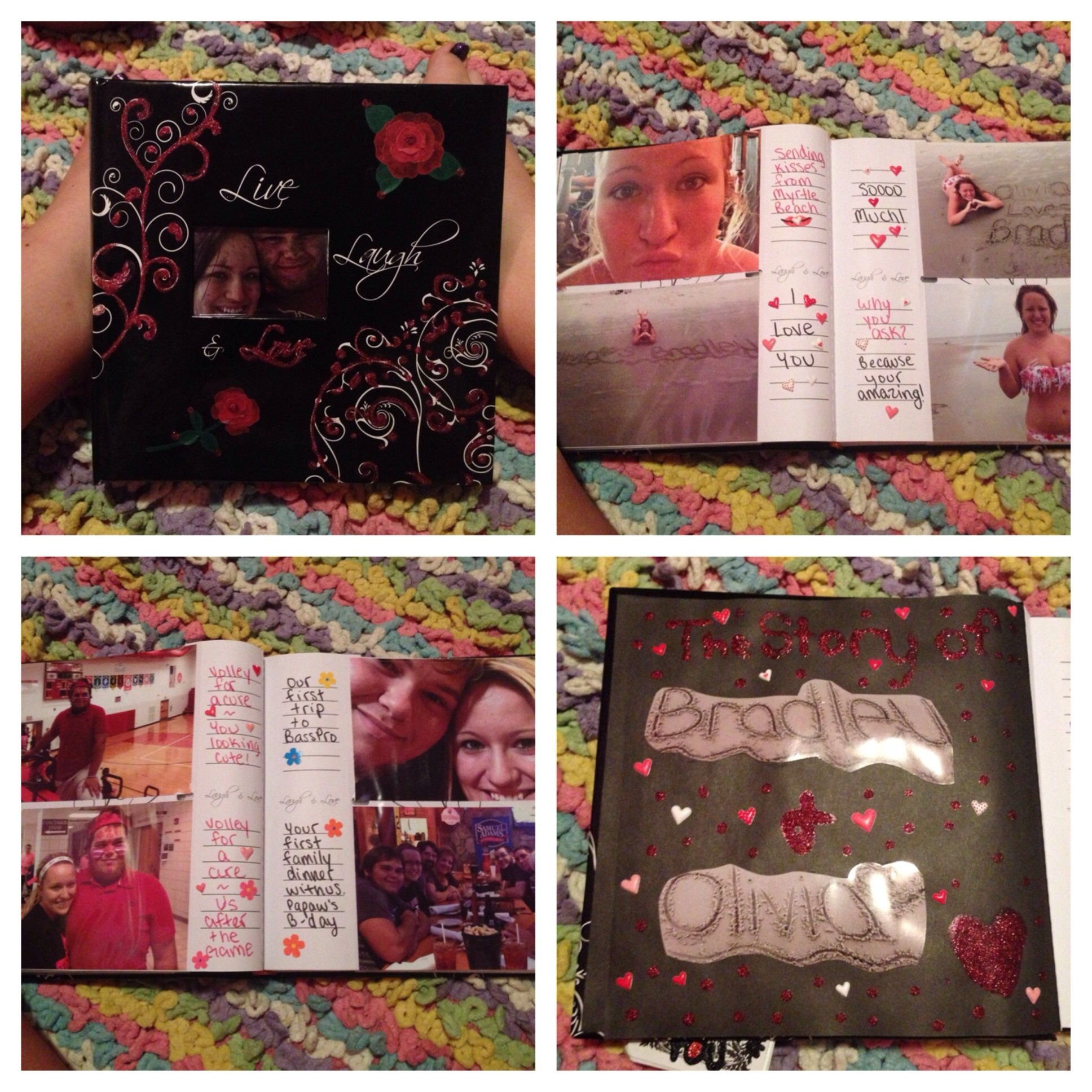 photo album i made my boyfriend. ❤ it's a great diy gift for your