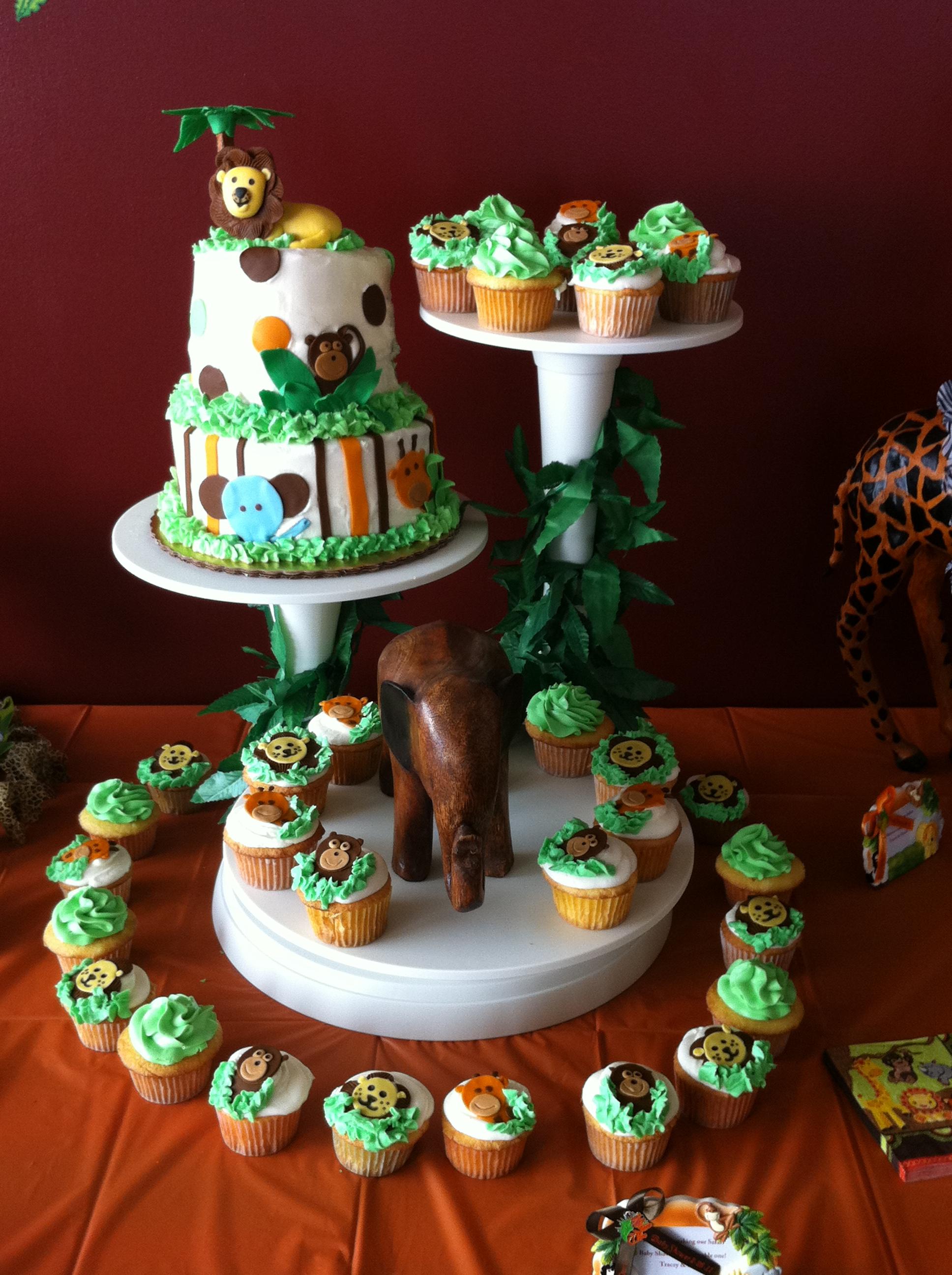10 Spectacular Safari Jungle Baby Shower Ideas photo baby shower cakes 4 image 2021