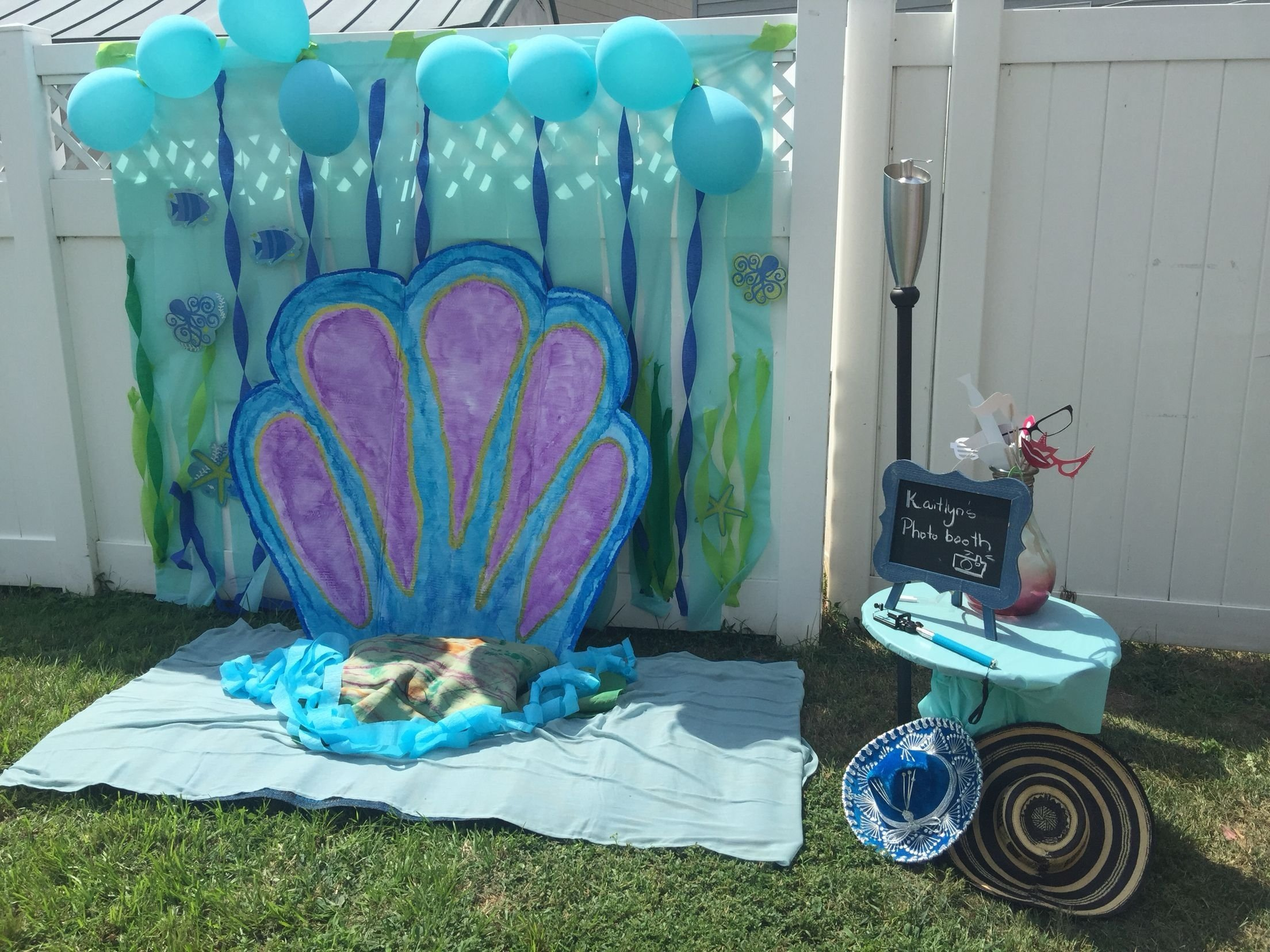 photo booth background, under the sea theme. cute idea for under the