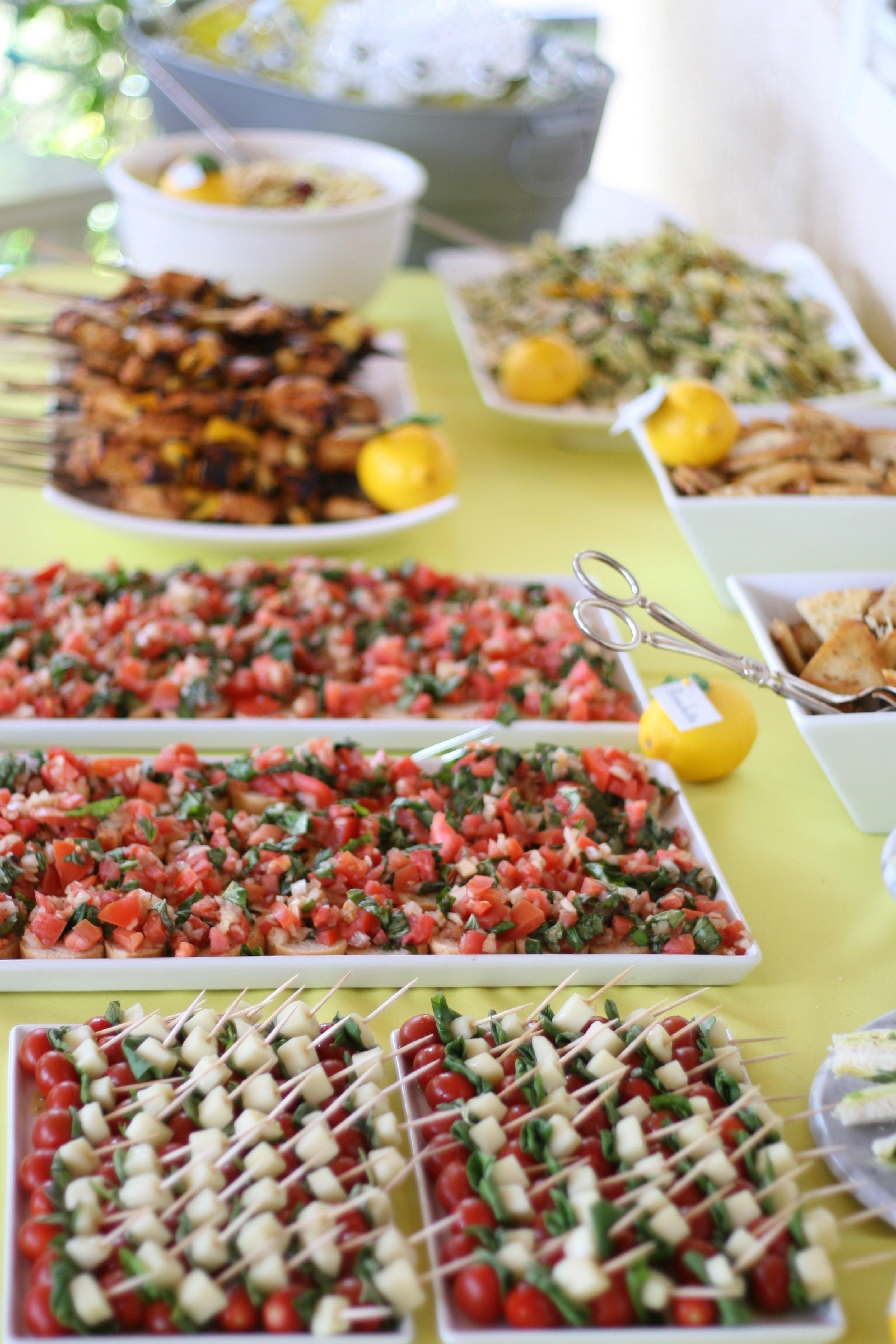10 Lovable Bridal Shower Food Ideas Easy photo bridal shower food theme image 1 2021