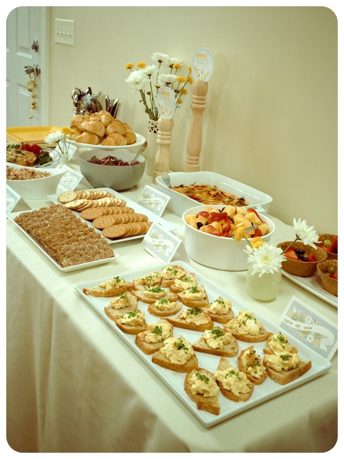 photo : bridal shower menu ideas image