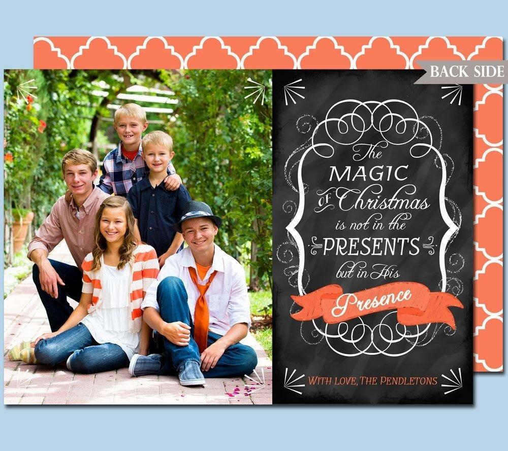10 Beautiful Best Christmas Card Photo Ideas photo christmas card chalkboard style printablecardvarkdesigns