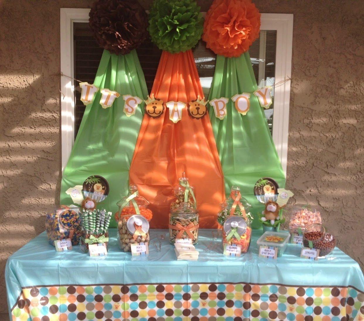 10 Great Jungle Safari Baby Shower Ideas photo safari baby shower decorations image