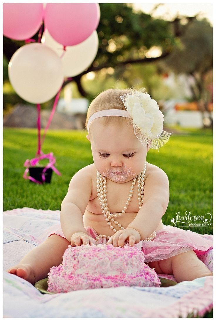 10 Ideal One Year Old Picture Ideas photograph option for a one year old complete with pearls and smash 1 2021