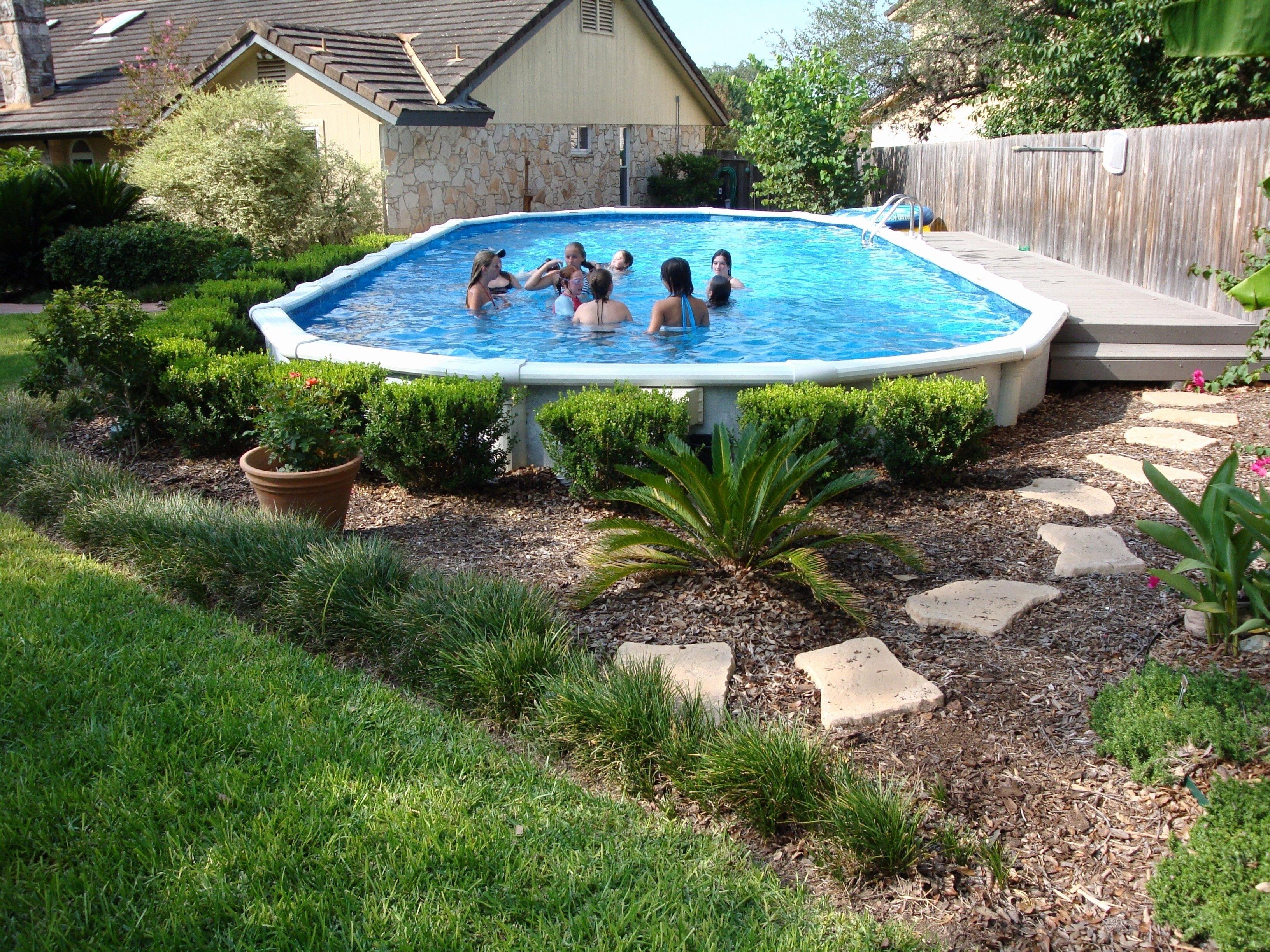 10 Stylish Above Ground Pool Landscape Ideas picture 3 of 50 above ground pool landscaping ideas new nice above 2020