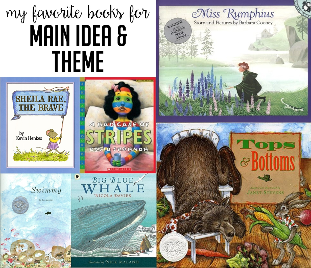 picture books for main idea and theme in first and second grade