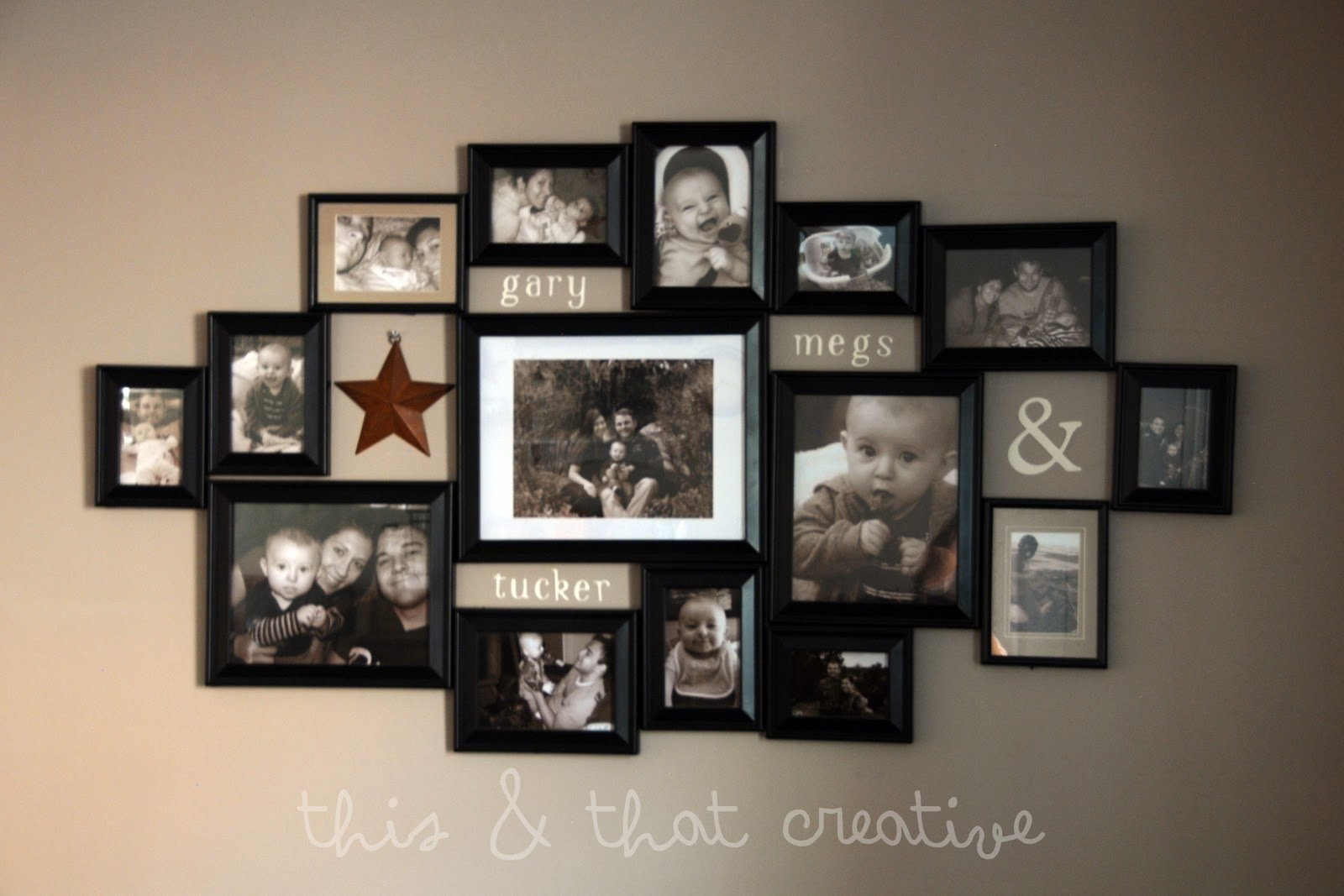 10 Trendy Photo Collage On Wall Ideas picture frame ideas first i laid out all the frames on the floor 2020