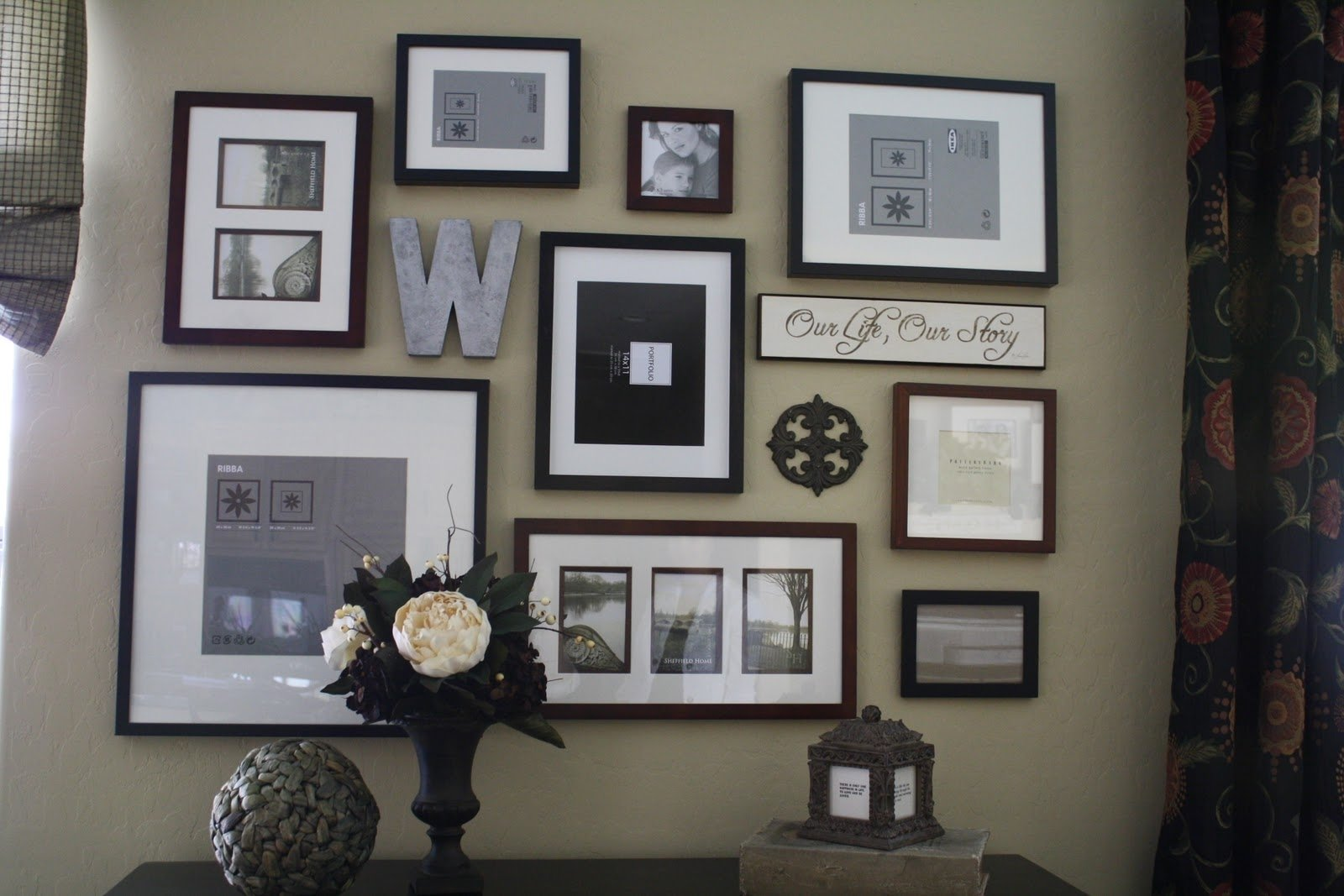picture frame wall collage ideas — collaborate decors : wall collage