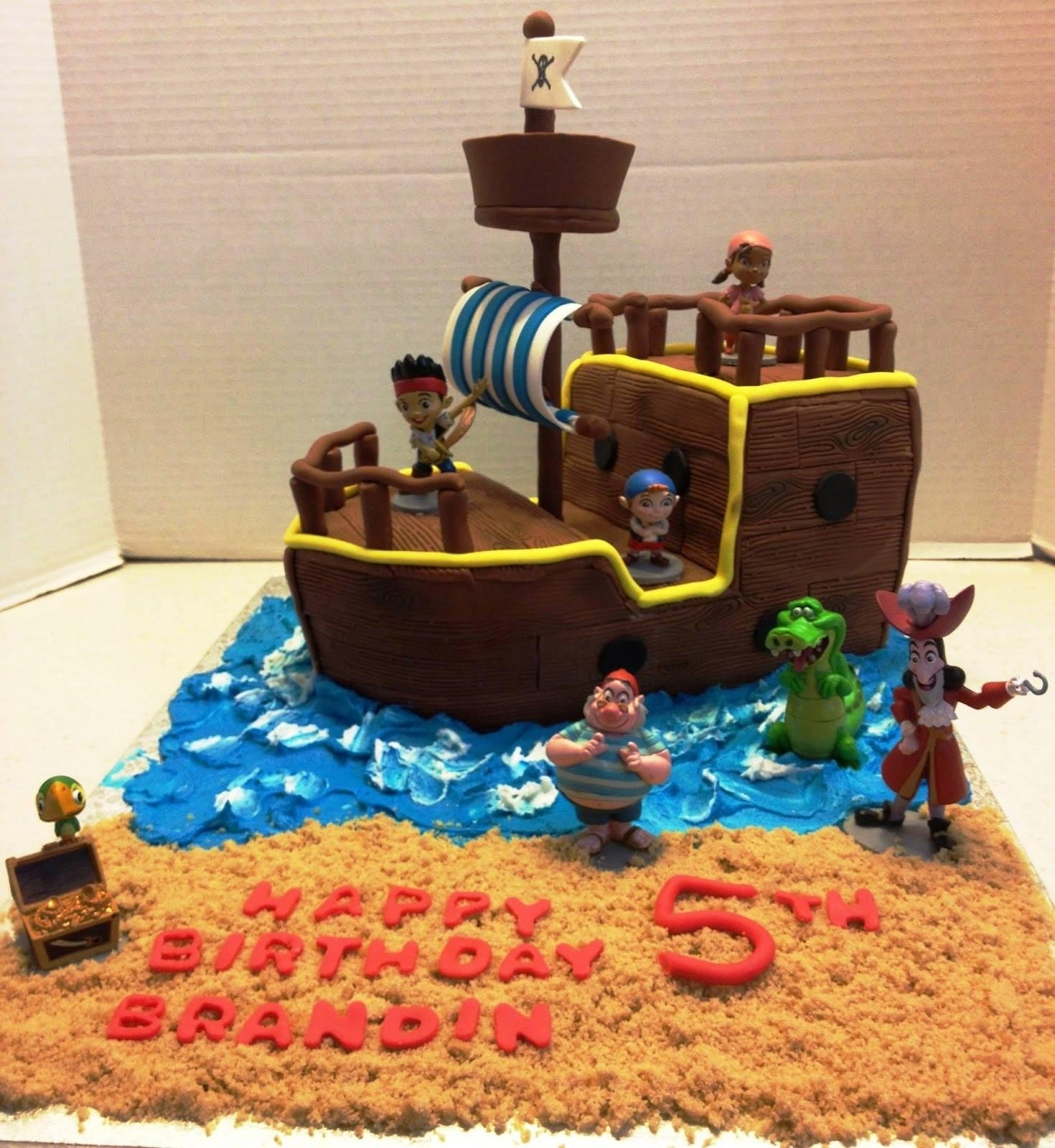 10 Lovable Jake And The Neverland Pirates Cake Ideas picture of jake and the neverland pirates birthday cake protoblogr 2021