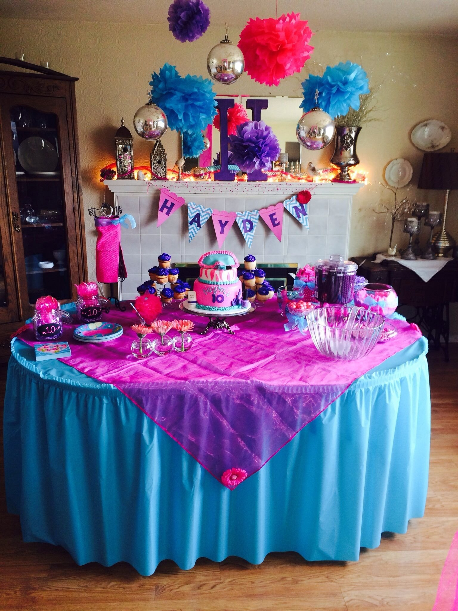 pictures: birthday party ideas for girls age 10, - homemade party decor