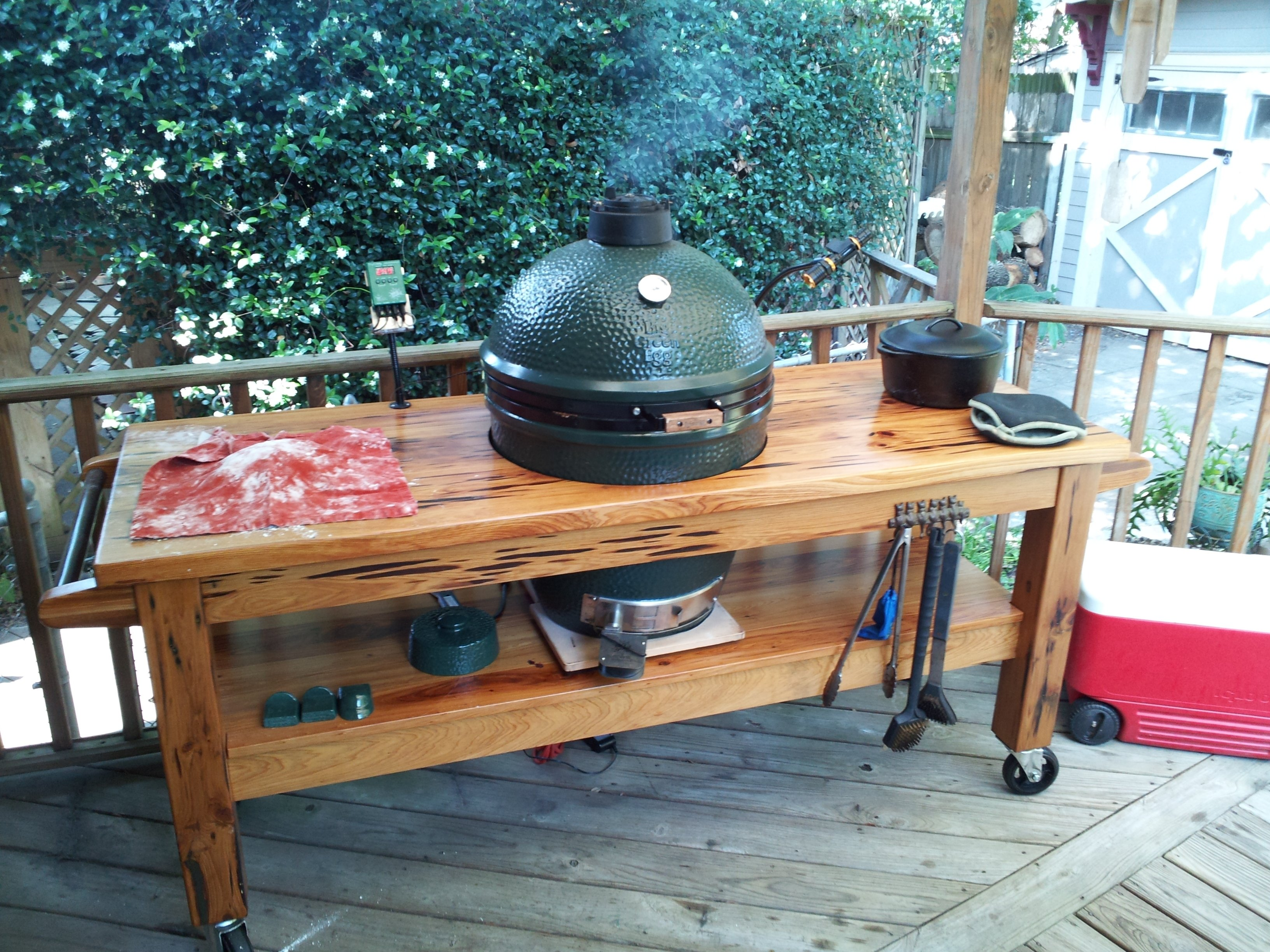 pictures of your table!! — big green egg - egghead forum - the