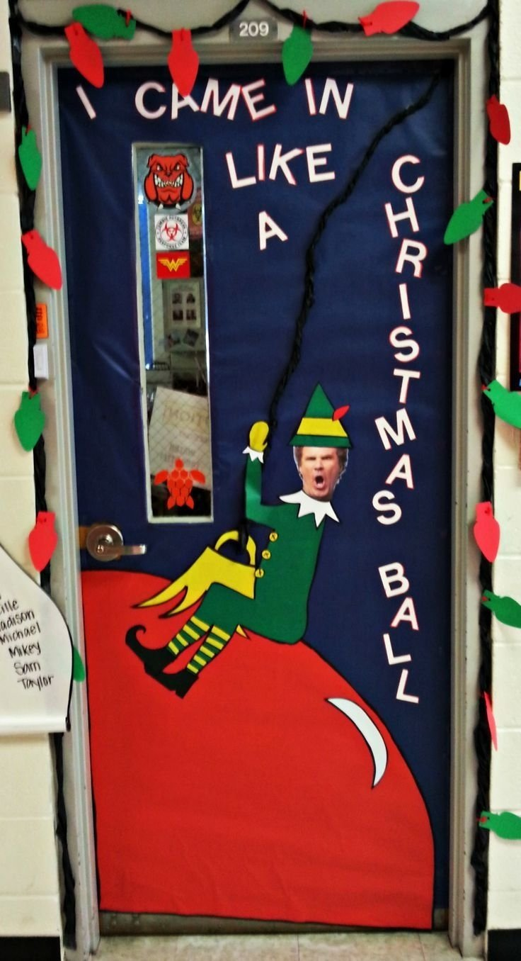 10 Amazing Funny Christmas Door Decorating Contest Ideas pinamanda kittrell denight on school pinterest doors 2021