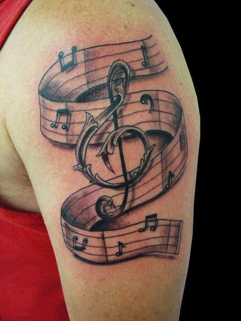10 Stylish Music Tattoo Ideas For Men pinamber marie on tattoos pinterest tattoo and tatting