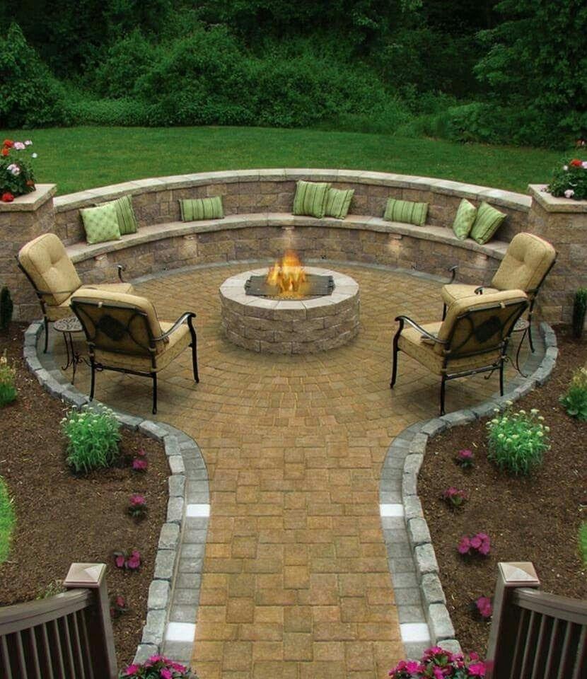 10 Stylish Deck Ideas With Fire Pit pincindy west on garden building ideas pinterest backyard 2021