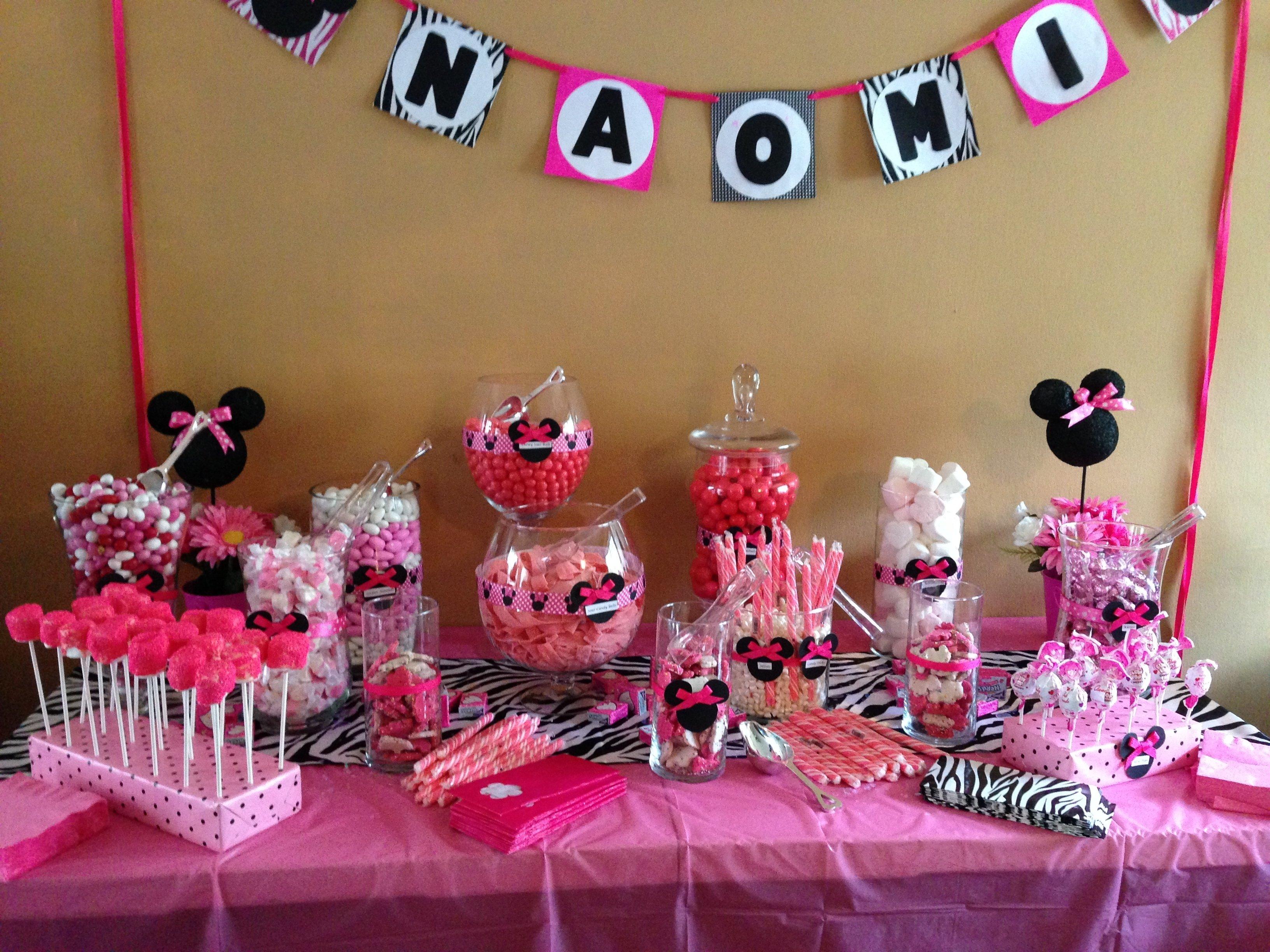 10 Wonderful Minnie Mouse Candy Bar Ideas pindana wimbish on more birthday party ideas deco pinterest 2021