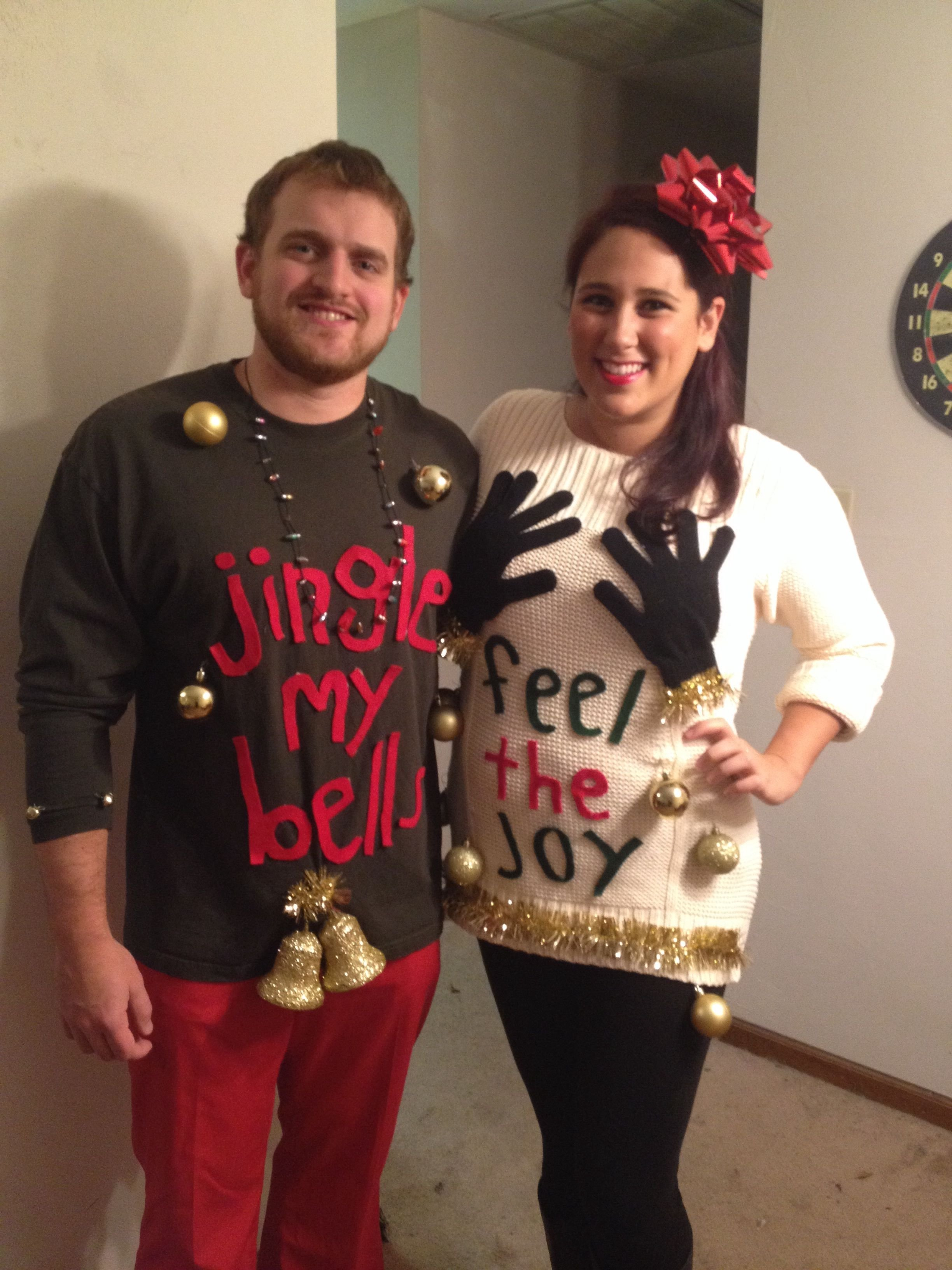 10 cute tacky christmas sweater ideas for couples pindenise schmitz on ugly sweater ideas pinterest diy - Homemade Tacky Christmas Sweaters