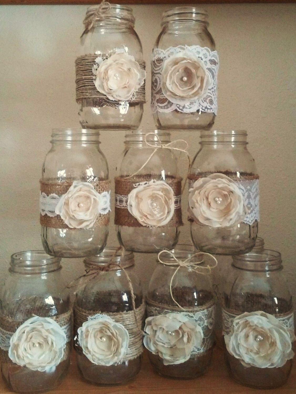 10 Fantastic Country Wedding Ideas Mason Jars pingina freitag on wedding pinterest lace mason jars rustic 2020