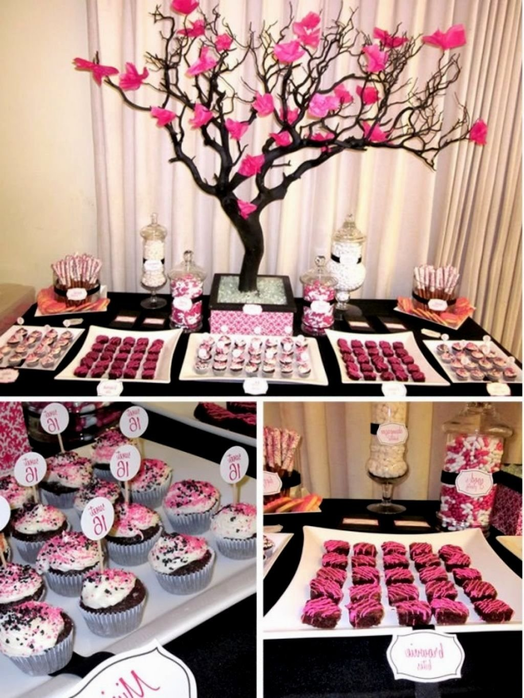 10 Beautiful Pink And Black Birthday Party Ideas pink and black party decor ideas decorating of party 1 2020