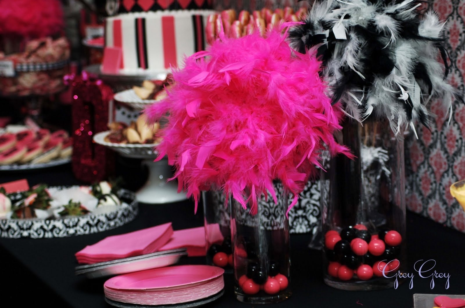 10 Famous Pink And Black Party Ideas pink and black party decorations 7 free hd wallpaper 2020