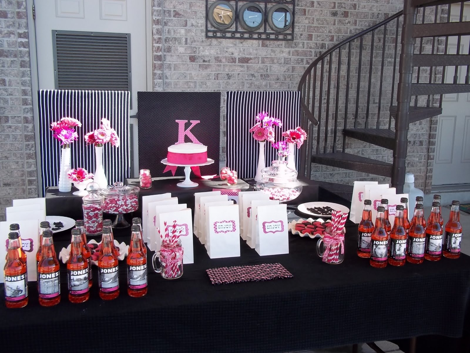 10 Beautiful Birthday Ideas For 12 Yr Old Girl pink and black party decorations party favors ideas 2020