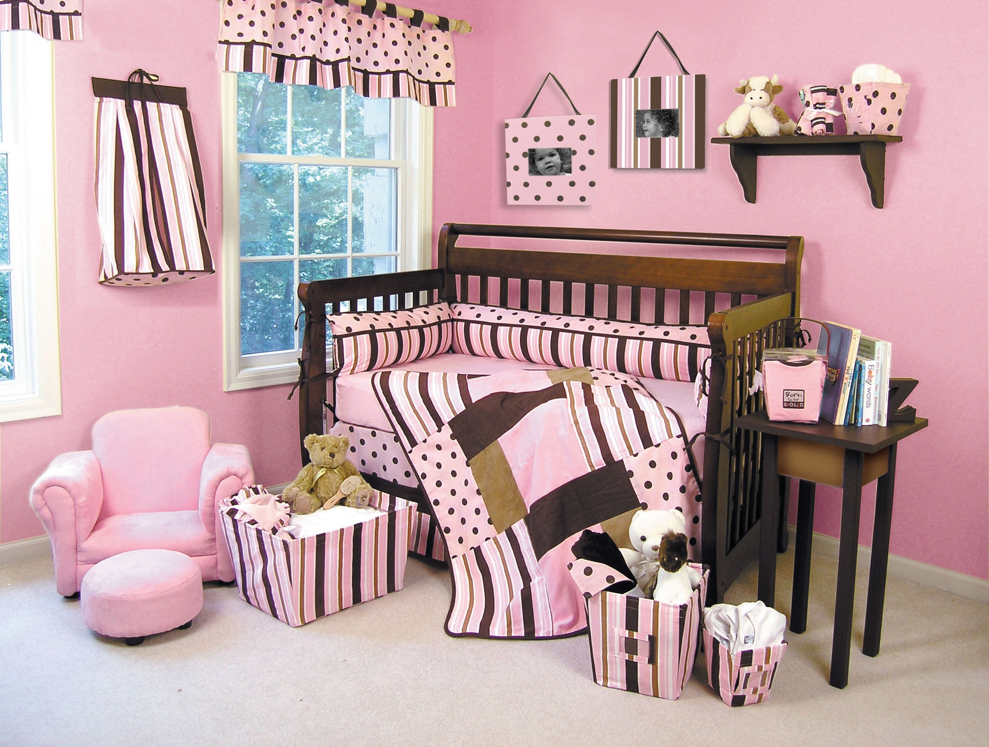 10 Lovely Pink And Brown Nursery Ideas pink and chocolate brown crib bedding ideas nursery homebaby 2020