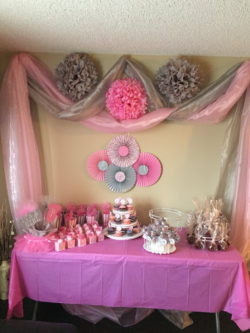 10 Stylish Pink And Gray Baby Shower Ideas pink and gray baby girl shower baby showers pinterest baby 2020